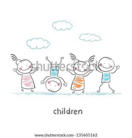 children - stock vector