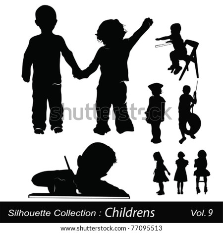 Children and Childhood - stock vector