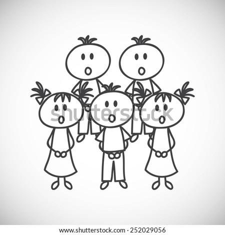 Children choir - stock vector