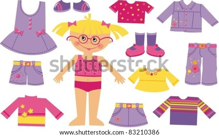 Children fashion store - stock vector