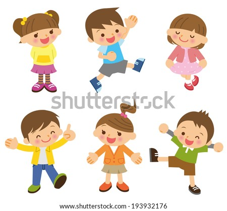 Children illustration - stock vector
