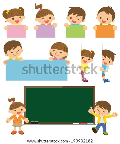 Children illustration - stock vector