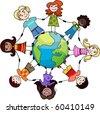 children of the world - stock vector