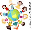 children of the world - stock photo