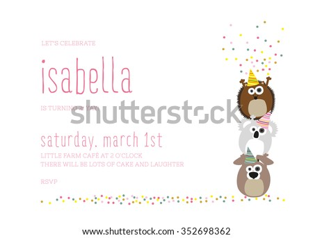 Birthday Invitation Images RoyaltyFree Images Vectors – Children Birthday Invitation Card