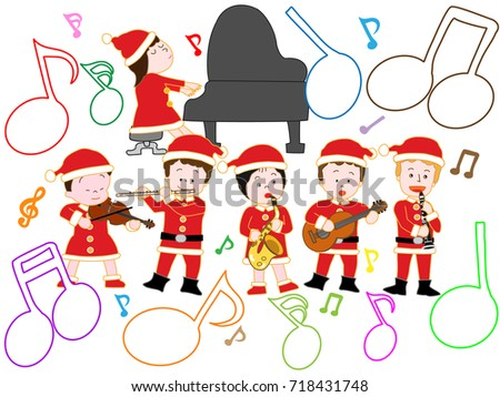 Childrens Christmas Concert Stock Vector 718431748 - Shutterstock