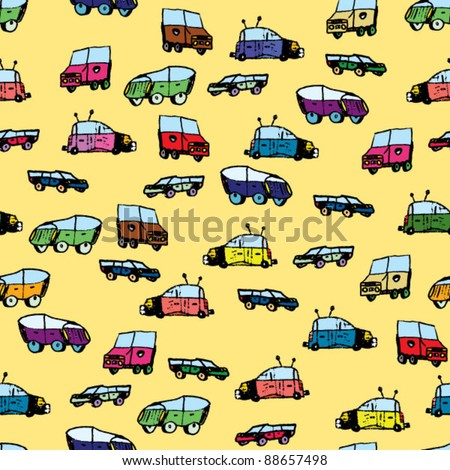 children's drawing car pattern