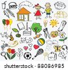 children's drawing, the vector - stock vector