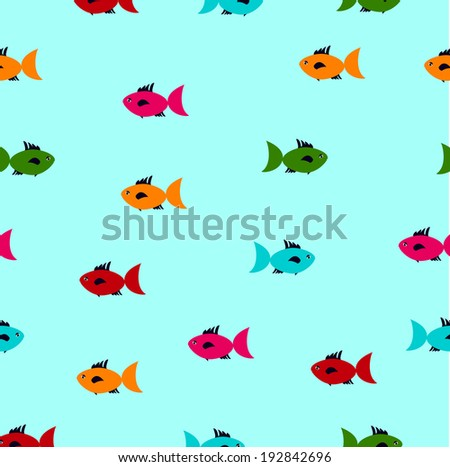 Fish seamless patternskeleton fish stock vector 407233039 for Fish wrapping paper