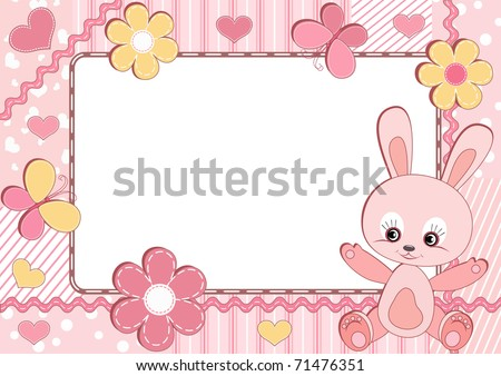 Children's photo frame. Vector  illustration. - stock vector