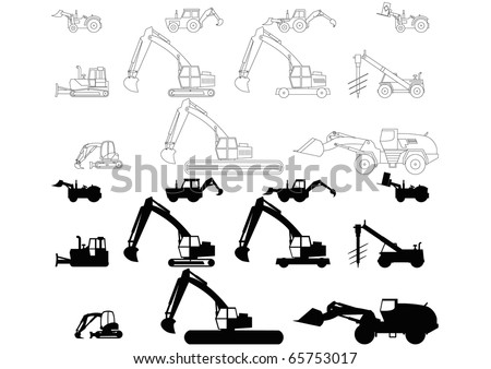 Children's toys digger 2 - stock vector