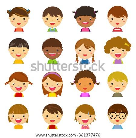 children set - stock vector