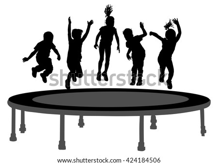 Trampoline Jumping Stock Royalty Free