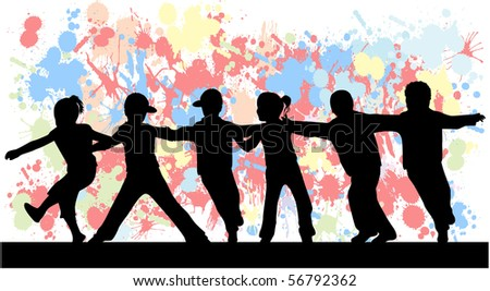 Childrens - grunge background - stock vector