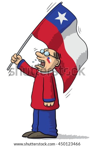 Chile soccer supporter