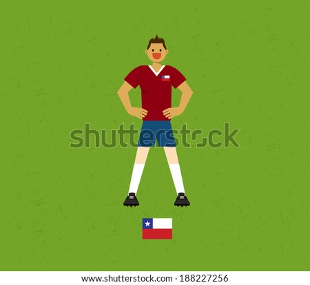 Chile Soccer Tables  - stock vector