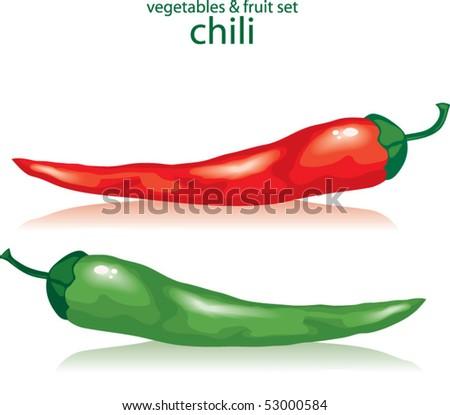chili - stock vector