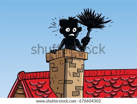 chimney sweep cartoon stock vector 676604302 shutterstock rh shutterstock com Free Vector Graphics Vintage Flower Vector