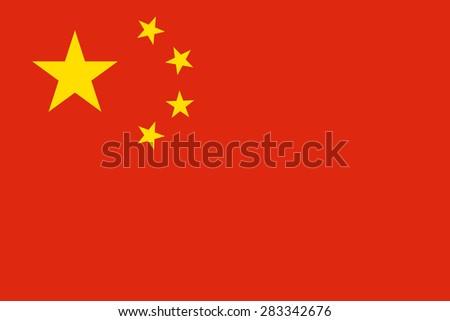 China flag - stock vector