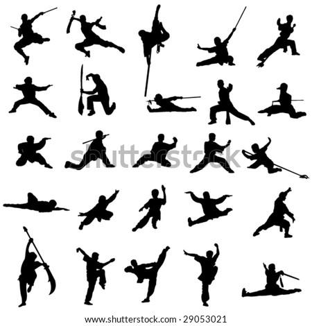 China's kung fu - stock vector