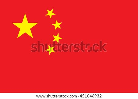 China vector flag