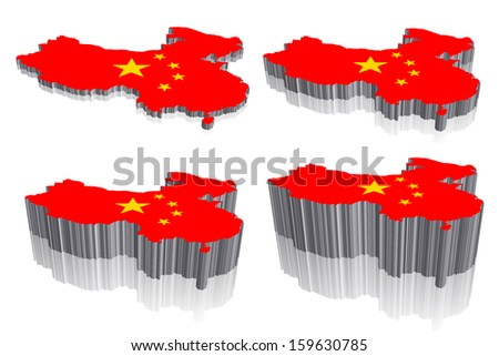China Vector Map 3d
