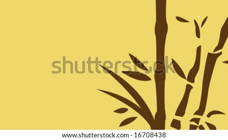 chinese bamboo trees vector illustration