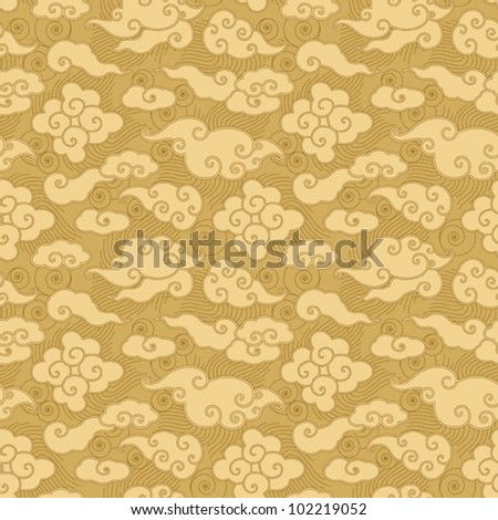 Chinese Cloud Drawings Chinese Cloud Seamless Pattern