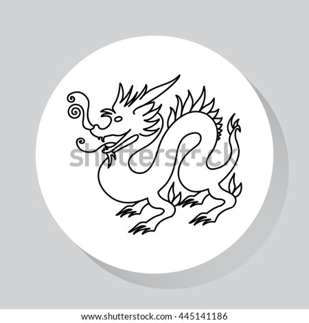 chinese dragon traditional culture vector illustration