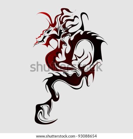 Chinese dragon vector - stock vector