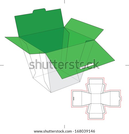 Chinese Fast-food Box - stock vector