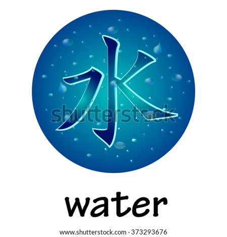 Chinese hieroglyph WATER - stock vector