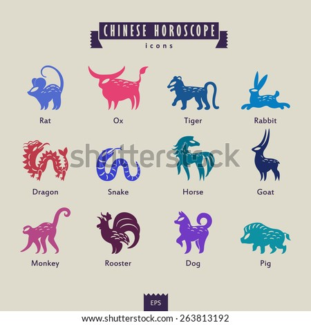 Chinese horoscope - stock vector