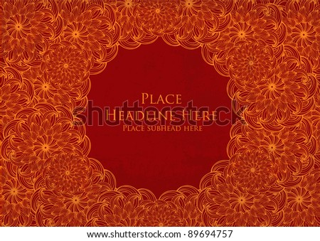 chinese motif template vector/illustration - stock vector