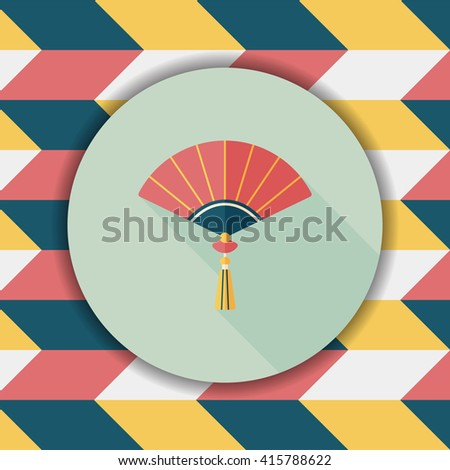chinese new year flat icon with long shadoweps10 chinese folding fan means - How Long Is The Chinese New Year