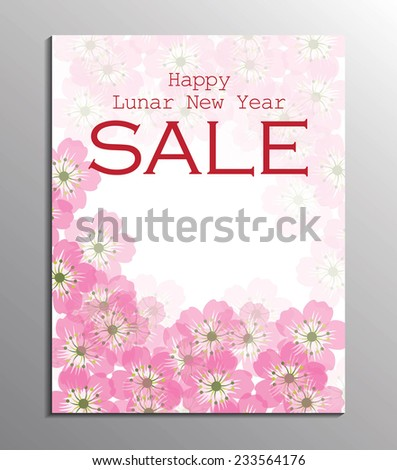Chinese New Year sale design template. - stock vector