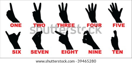 Chinese number vector - stock vector