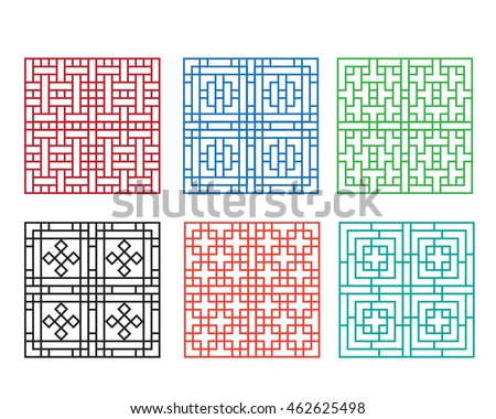Chinese Fence Design Chinese ornament door window wall fence stock vector 462625498 chinese ornament for door window wall and fence workwithnaturefo