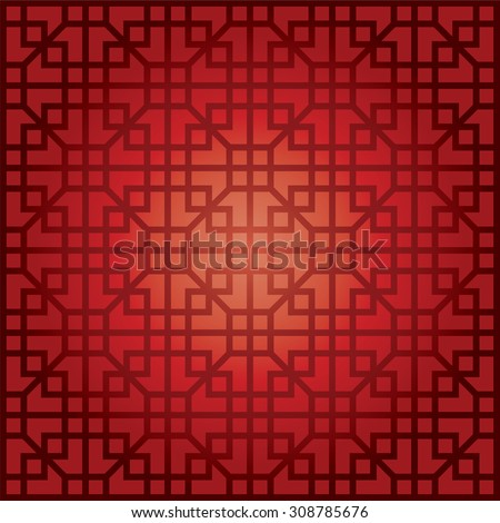 Chinese Pattern for chinese new year design - stock vector