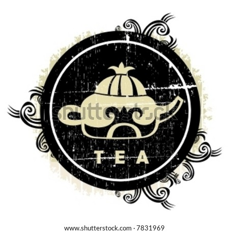 chinese tea sign. To see similar design elements,  please visit my gallery - stock vector