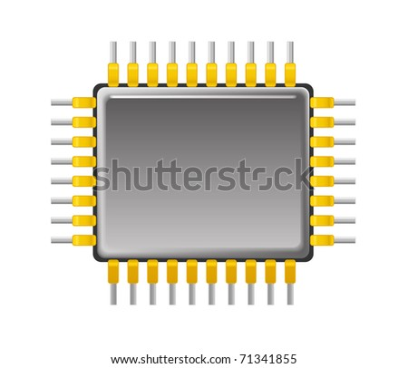 Chip - stock vector
