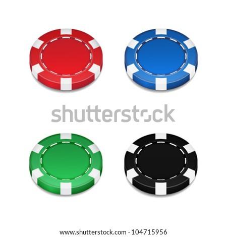 chips casino - stock vector