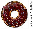 Chocodonut. Vector - stock vector