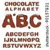 Chocolate alphabet. Vector illustration. - stock vector