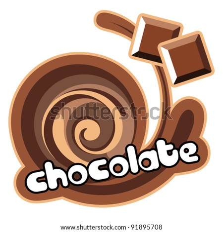 Chocolate.Background for design of packing yoghurt. Vector illustration. - stock vector