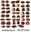 chocolate candy collection - stock vector