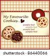 chocolate cookies - stock vector