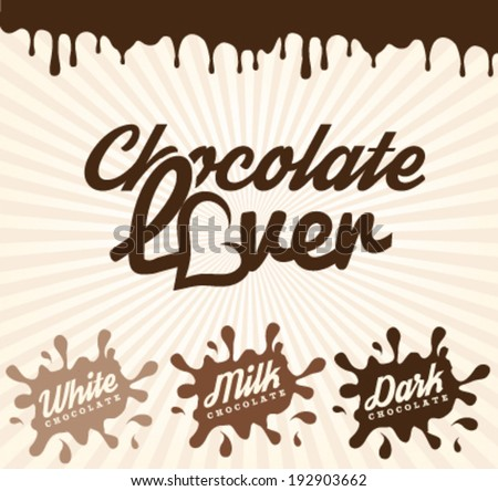 Chocolate Design Elements in Vintage Style - stock vector