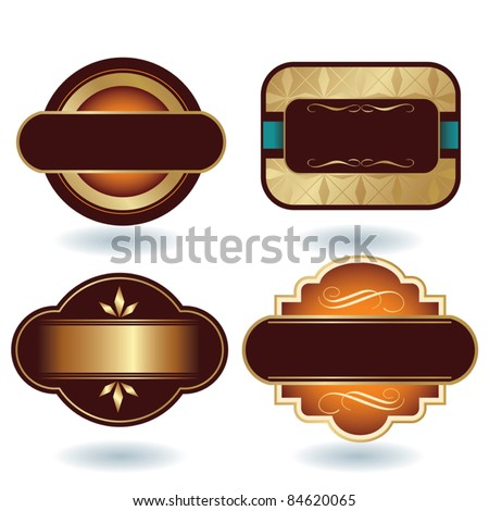 Chocolate Logo Template - stock vector