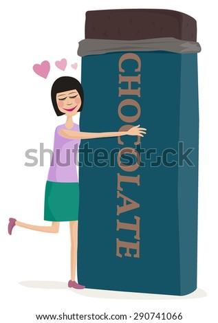 Chocolate Love - stock vector